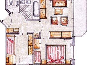 Grundriss Familienappartement Engenkopf | Alphotel