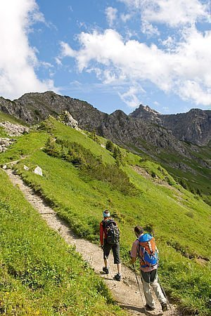 Gäste bei der Bergtour Kanzlwand