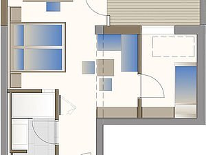 Grundriss Familienappartement Ifen | Alphotel