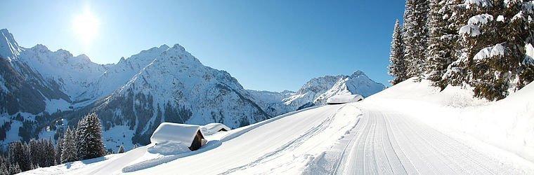 Kleinwalsertal Höhenweg im Winter