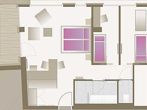 Familienappartement Grundriss | Alphotel Hirschegg