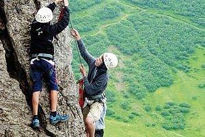 Klettern im Sommerurlaub Kleinwalsertal