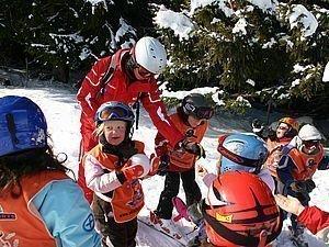 Kindergruppe beim Skikurs