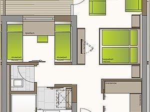 Grundriss Familienappartement Heuberg | Alphotel