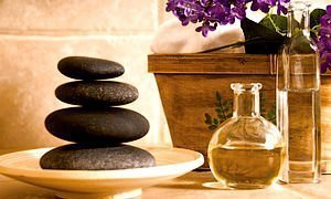 Utensilien für die Massagen