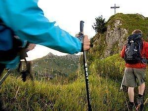 Gäste bei einer Bergtour