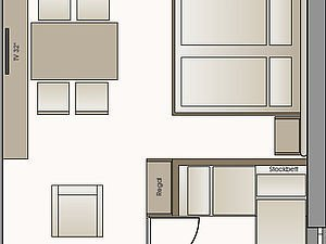 Grundriss Familienappartement Hammerspitze | Alphotel