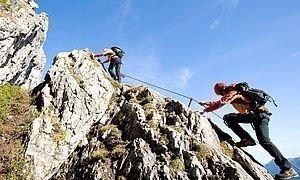Klettersteig gehen im Kleinwalsertal